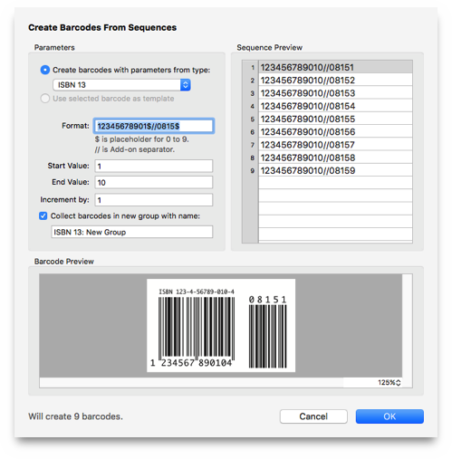 Barcode Sequence Editor