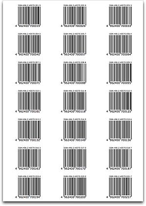Barcode Label Sheet
