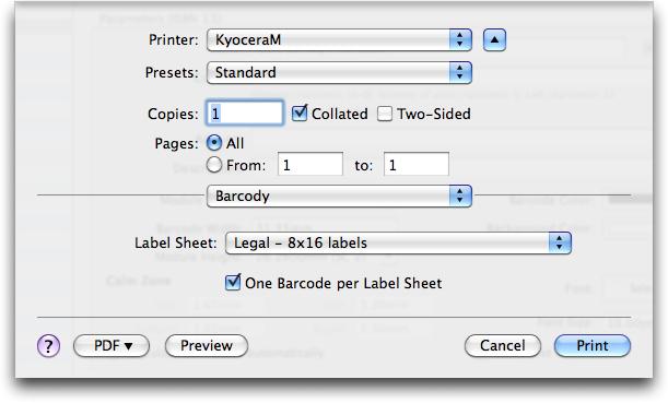 Print Barcodes